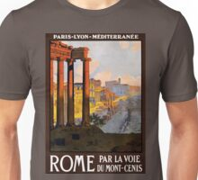 Vintage Travel Poster Ruins of Rome Unisex T-Shirt