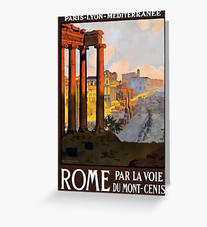 Vintage Travel Poster Ruins of Rome Greeting Card