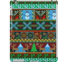 Knitted Christmas Sweater Reindeer Snowmen Holiday Pattern iPad Case/Skin