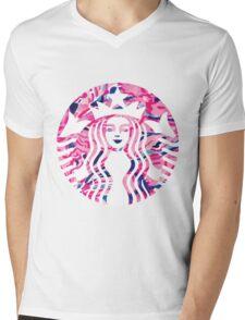 starbucks Mens V-Neck T-Shirt