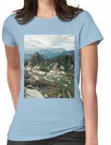 Utah Mountain Landscape Womens Fitted T-Shirt