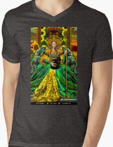 Queen of Wands Mens V-Neck T-Shirt