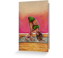 Inktober Yoga Woman Greeting Card