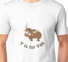 Y is for Yak Unisex T-Shirt