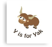 Y is for Yak Canvas Print
