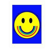 Rainbow Smiley Face Art Print