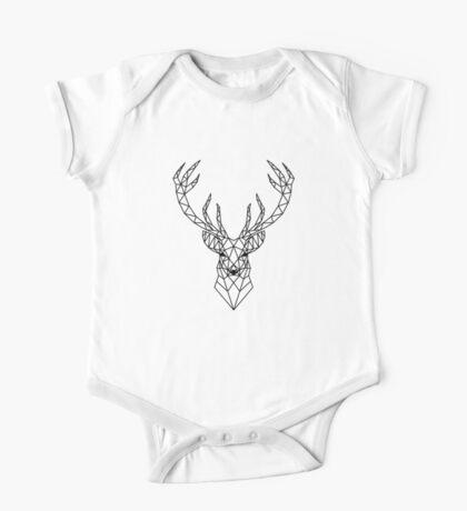 Geometric deer head One Piece - Short Sleeve