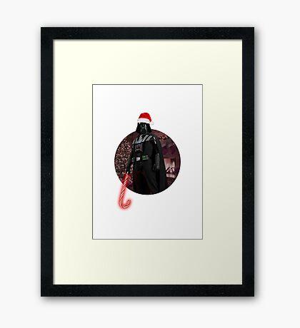 Vader Christmas Framed Print
