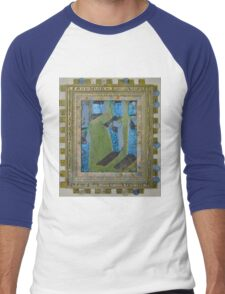 Orchard Of Frog Boxes - Framed Abstract Men's Baseball ¾ T-Shirt