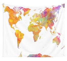 world map 23 Wall Tapestry