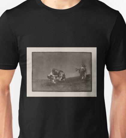 Francisco de Goya   El mismo vuelca un toro en la plaza de Madrid The Same Man Throws a Bull in the Ring at Madrid Unisex T-Shirt