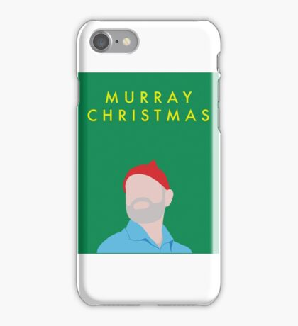 Murray Christmas Card with Bill Murray in The Life Aquatic with Steve Zissou iPhone Case/Skin