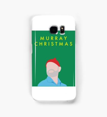 Murray Christmas Card with Bill Murray in The Life Aquatic with Steve Zissou Samsung Galaxy Case/Skin