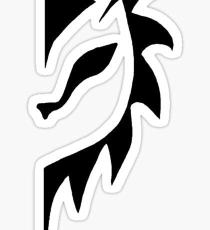 A Lion's Mane Minimalism Sticker