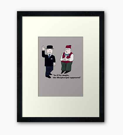 Mr Benn and the Shopkeeper Framed Print