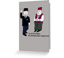 Mr Benn and the Shopkeeper Greeting Card