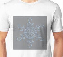Airy Blue Sharkskin Snowflake Unisex T-Shirt