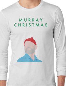 Murray Christmas Card with Bill Murray Illustration Long Sleeve T-Shirt