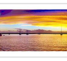 .Grand Gold Dawn. Panorama. Sticker