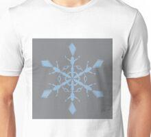Sharkskin Airy Blue Snowflake Unisex T-Shirt