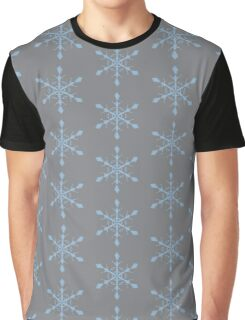 Sharkskin Airy Blue Snowflake Graphic T-Shirt