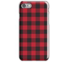 Red and Black Buffalo Plaid  iPhone Case/Skin