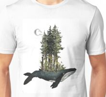 Sprouting Sea Whale - Gouache Painting Unisex T-Shirt