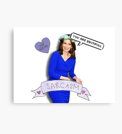 Tina Fey in blue Canvas Print