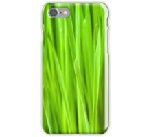 Fresh Wheatgrass background iPhone Case/Skin