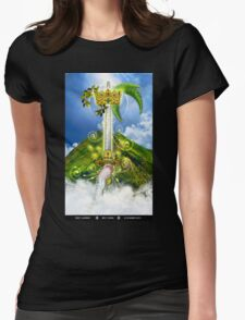 Ace of Swords Womens Fitted T-Shirt
