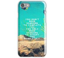 Love Wishes Motivational Quote With Underwater Ocean Scene iPhone Case/Skin