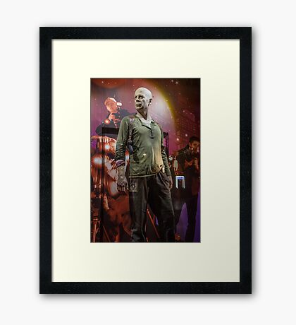 Czech Republic. Prague. Bruce Willis in the Shop Window for Sale. Framed Print