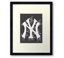 yankee splatter Framed Print