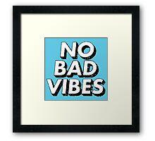 Retro No Bad Vibes Framed Print