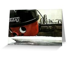 Henry the vacuum cleaner Greeting Card