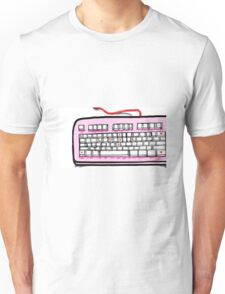I love you pink keyboard  Unisex T-Shirt