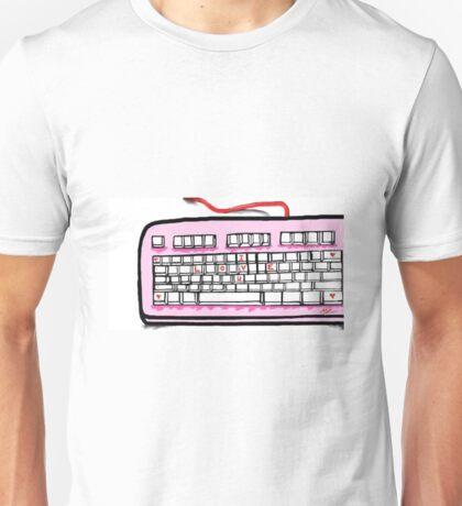 I love you pink keyboard  Unisex T-Shirt