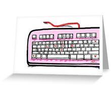 I love you pink keyboard  Greeting Card
