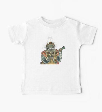 Steampunk Bird Sky Patrol Baby Tee