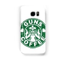 I Love Guns and Coffee! Not the Starbucks logo. Samsung Galaxy Case/Skin