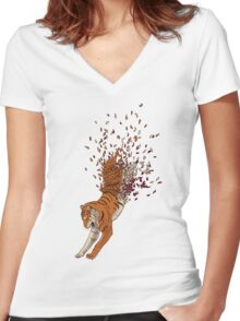 Gone with the wind Women's Fitted V-Neck T-Shirt
