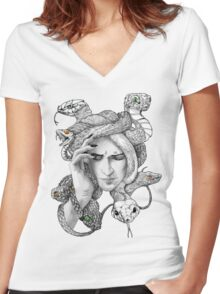 Medusa Women's Fitted V-Neck T-Shirt