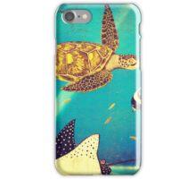 Beautiful Sea Turtles Underwater Painting  iPhone Case/Skin