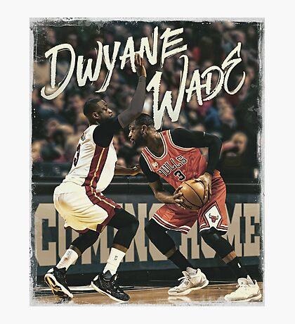 Dwyane Wade Miami to Chicago Basketball Artwork Photographic Print
