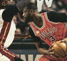 Dwyane Wade Miami to Chicago Basketball Artwork Sticker