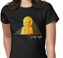 Dolly Parton Retro Gold (Dark) Womens Fitted T-Shirt