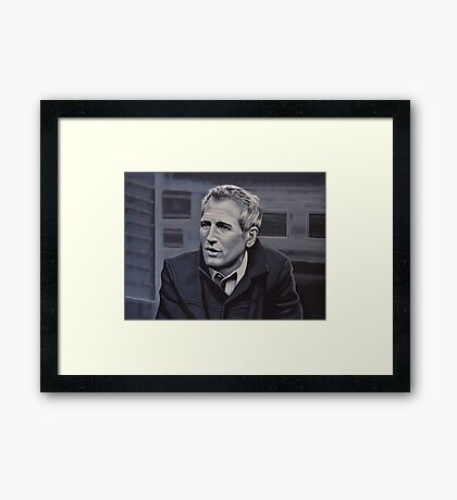 Paul Newman Painting Framed Print
