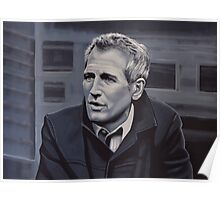 Paul Newman Painting Poster