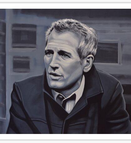 Paul Newman Painting Sticker