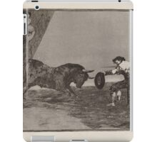 Francisco de Goya   Temeridad de martincho en la plaza de Zaragoza The Daring of Martincho in the Ring at Saragossa iPad Case/Skin